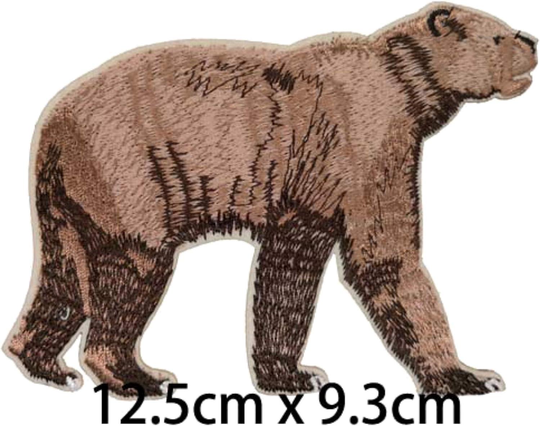 Parche bordado de oso gigante de cara corta para planchar o coser ...