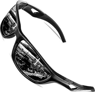 d9bc65dcb7 ATTCL Men s Sports Polarized Sunglasses Sports Glasses for Men Cycling  Driving Golf 306 Black