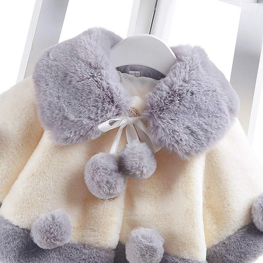 Lurryly❤Unisex Baby Girls Velvet Cloak Jacket Fall Winter Warm Waistcoat Tops Thick Coat 6M-2T