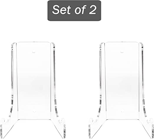 Photos Flat Plates Display Clear Choice Set of 2 H 4.5 X W 3 X D 2.750 Double-Bend Acrylic Easel Stand 3//16 Thick |Table top or Wall Mount Place Cards| Clear H 4.5 X W 3 X D 2.750