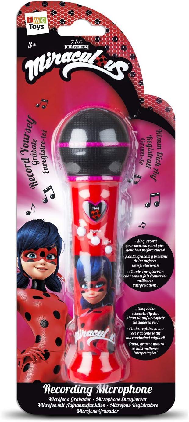 IMC Toys–Micrófono Grabador Miraculous Ladybug, 442016