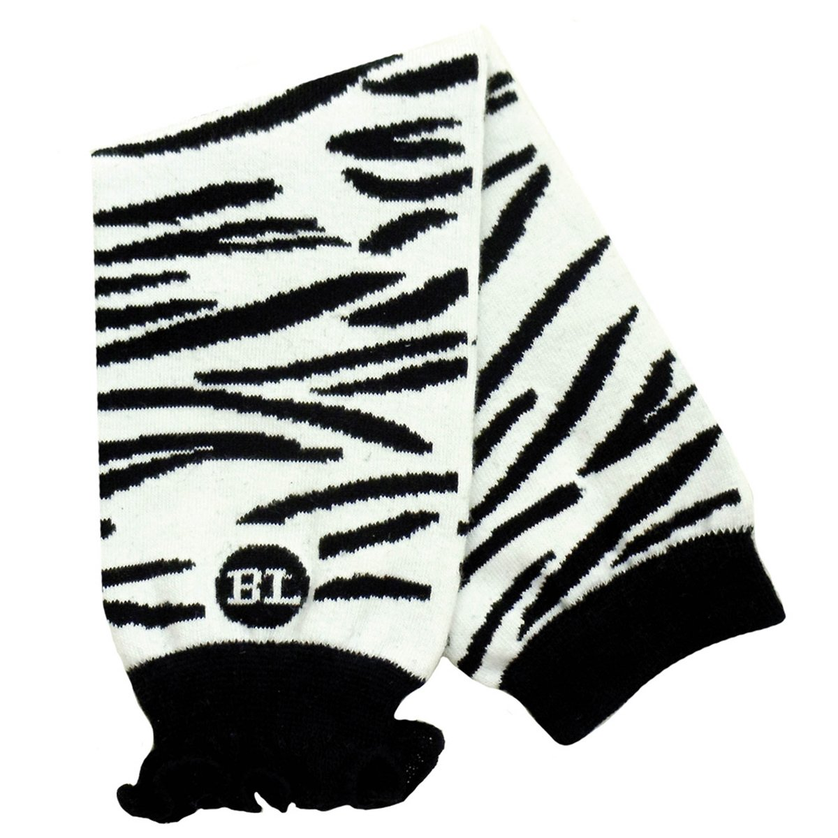 Babylegs Baby-Girls Infant Zippy Zebra Leg Warmer, White/Black, One Size BL12-1027