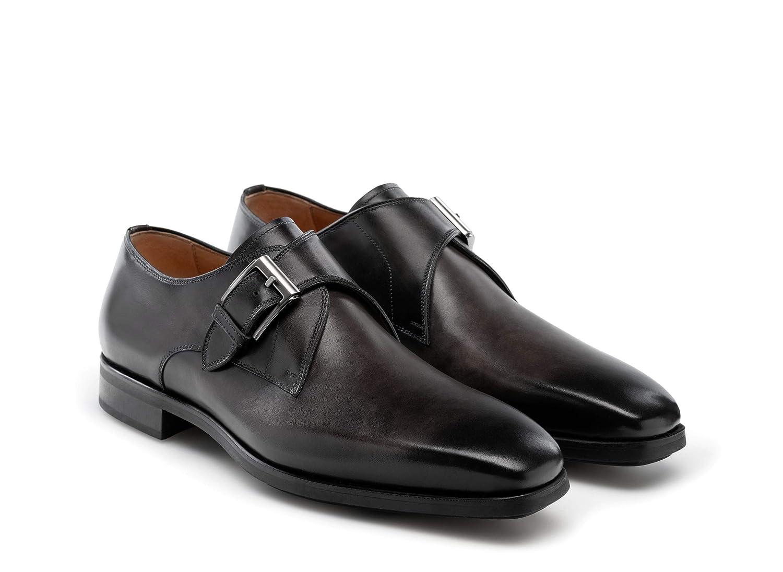 Magnanni Roddy Grey Mens Monk Strap Shoes