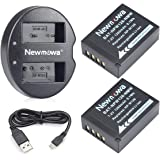 NP-W126/NP-W126S Newmowa Replacement Battery (2-pack) and Dual USB Charger for Fujifilm NP W126/NP W126S e Fuji FinePix HS30EXR X-A1 X-A2 X-E1 X-E2 X-E2S X-H1 X-M1 X-Pro1 X-Pro2
