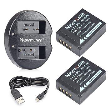 Newmowa NP-W126 Batería de Repuesto (2-Pack) y Kit de ...