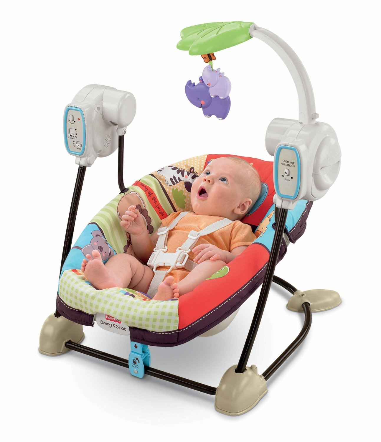 Fisher-Price Space Saver Swing and Seat, Luv U Zoo Amazonca/FISNE BML92