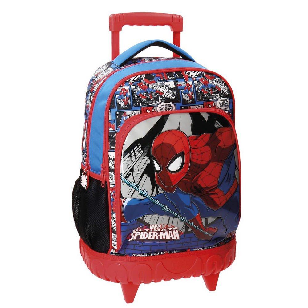 Spiderman Comic Mochila Escolar, 43 cm, 28.9 Litros, Multicolor