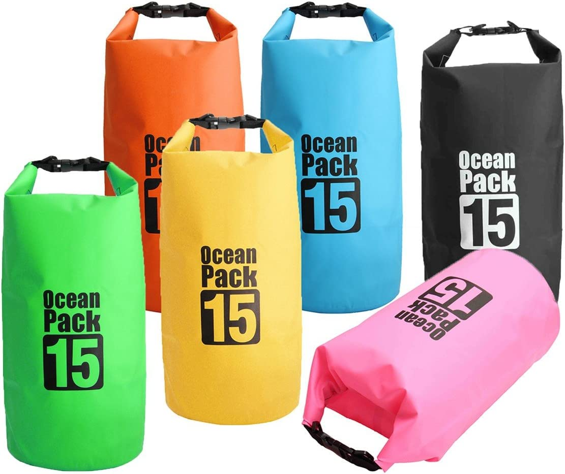 ShopSquare64 15L Waterproof Dry Bag Sack Boating Sailing Rafting Canoe Kayak Pouch: Amazon.es: Deportes y aire libre
