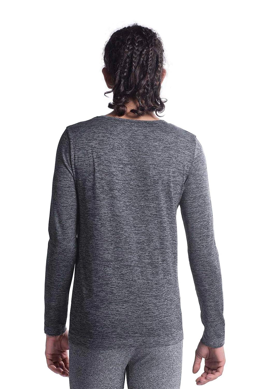 M-D Mens Seamless Wool Crew Neck Long Sleeve T-Shirt Thermal Underwear Shirt Base Layer Top