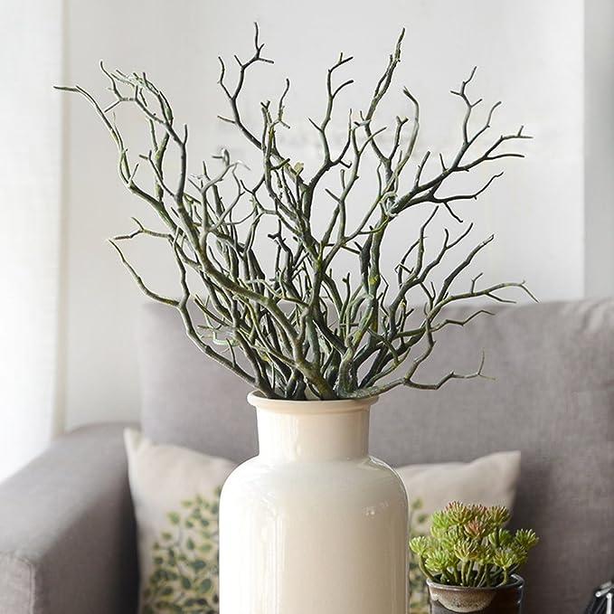 lunji rama Artificial - rama decorativa artplants - Decoración Mesa 36 CM: Amazon.es: Hogar