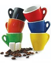 Galileo Casa Color Set Tazzine da caffè, Porcellana, Multicolore, 6 Pezzi 6 unità