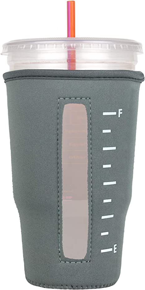 and Tea Black, Large Insulated Neoprene Cup Sleeve//Holder for Iced Beverages Coffee