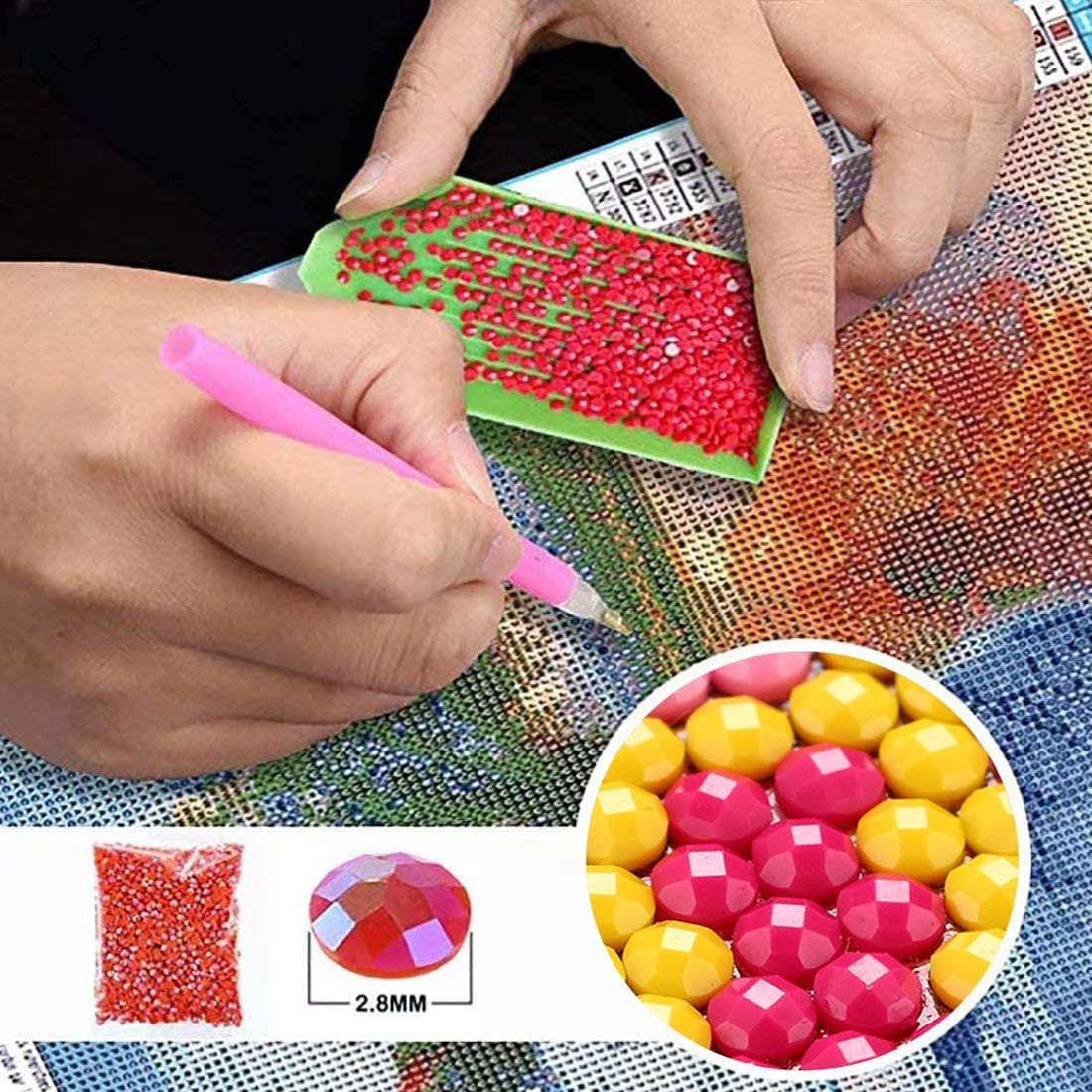 f/ür Erwachsene Leinwand Kunsthandwerk LUUFAN 5D-Diamant-Gem/älde zum Selbermachen Kreuzstich Strass-Stickerei Wanddekoration L/öwenzahn L/öwenzahn