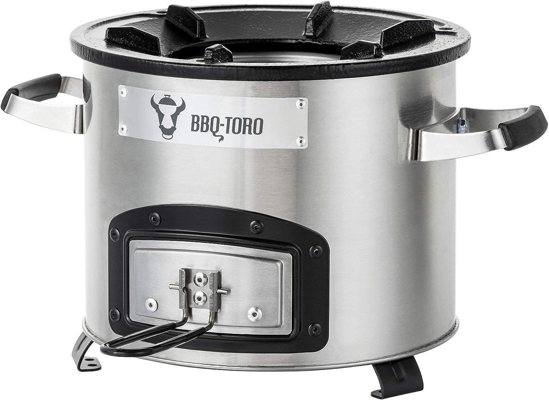 BBQ -Toro Estufa Cohete Rakete # 1   Horno Cocina Cohete de Acero Inoxidable para Horno Holandés, Sartenes de Parrilla y mucho más