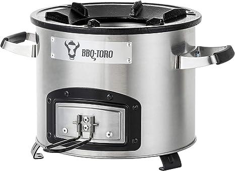 BBQ -Toro Estufa Cohete Rakete # 1   Horno Cocina Cohete de Acero ...