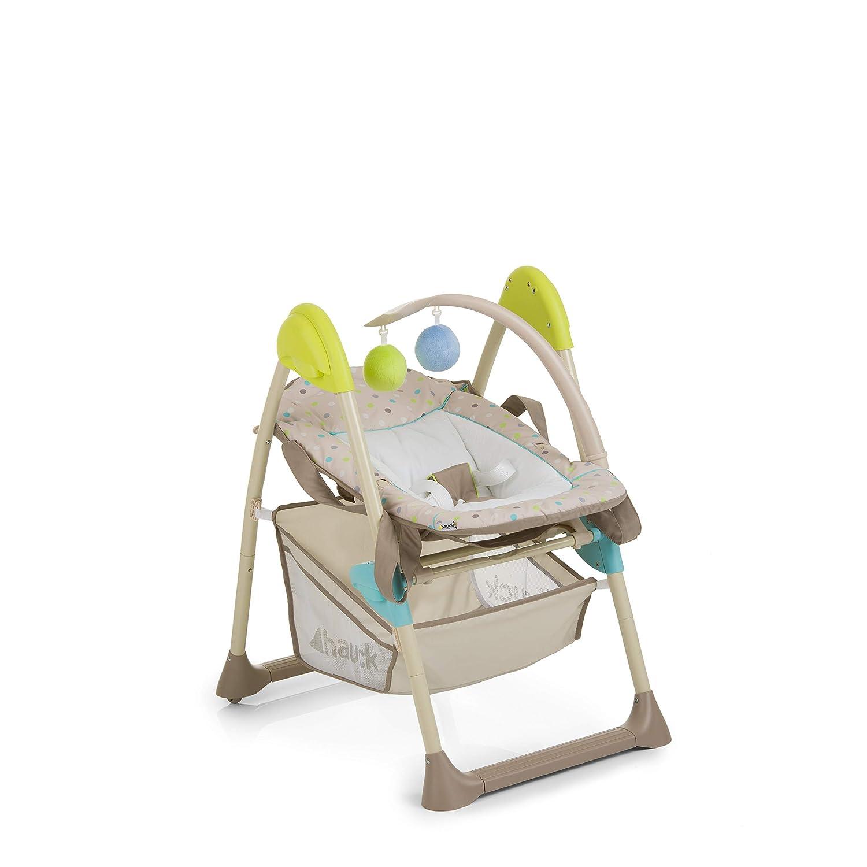 Hauck Sit/'n Relax 3 in 1 Newborn Set Tisch klappbar mitwachsend Spielbogen braun Neugeborenen Aufsatz und Kinderhochstuhl ab Geburt friend Rollen//h/öhenverstellbar mit Liegefunktion//inkl