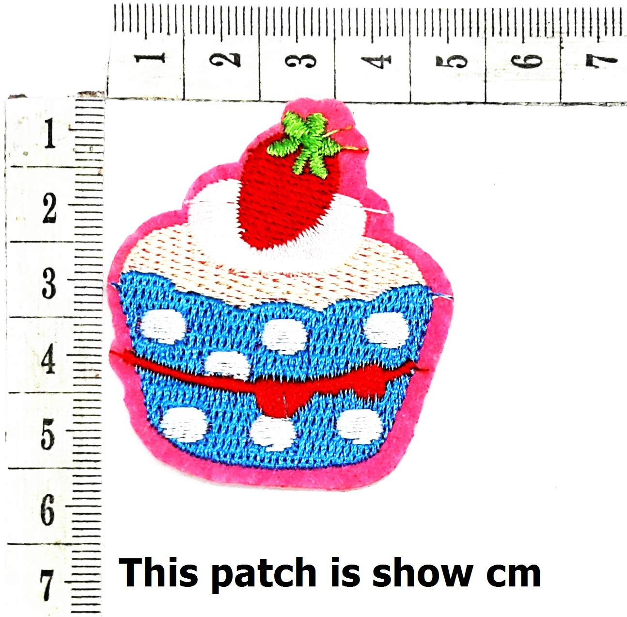 Colorful Strawberry Cupcake Cake Cartoon Chidren