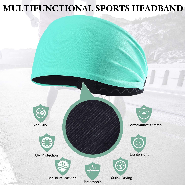 AXBXCX Non-Slip Silicone Headband Sweatband /& Sports Headband Moisture Wicking Workout Sweatbands