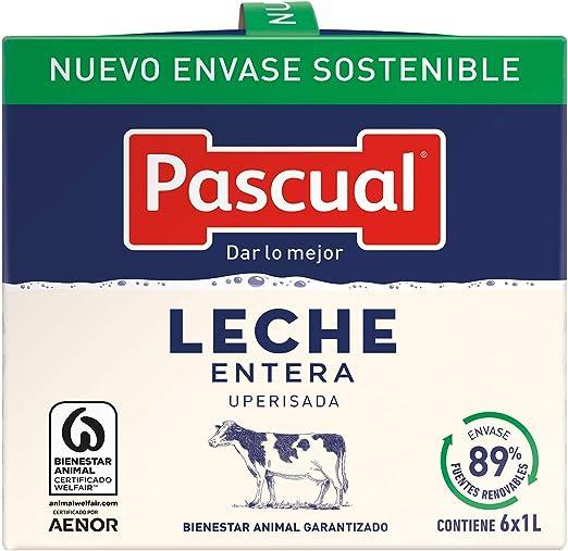 Leche Pascual Clásica Leche Entera - Pack de 6 x 1 l - Total: 6 l ...