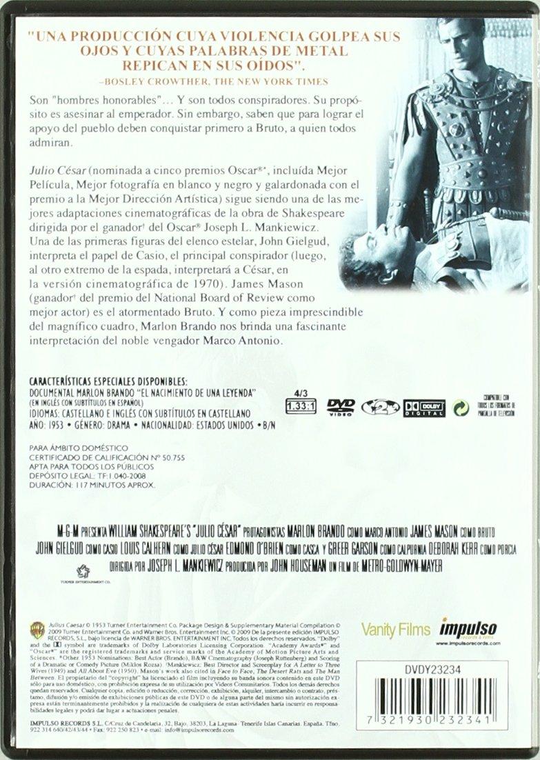Julius Caesar (Marlon Brando, James Mason, 1953): Amazon.co.uk ...
