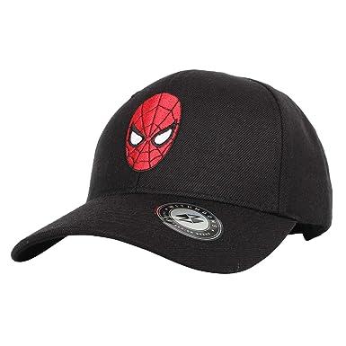 b96b42ed862 WITHMOONS Marvel Avengers Baseball Cap Spiderman Snapback Hat HL11071  (Black)