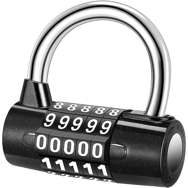 YoungRich 5 Digit Combination Lock Padlock Set Waterproof Antirust Resettable