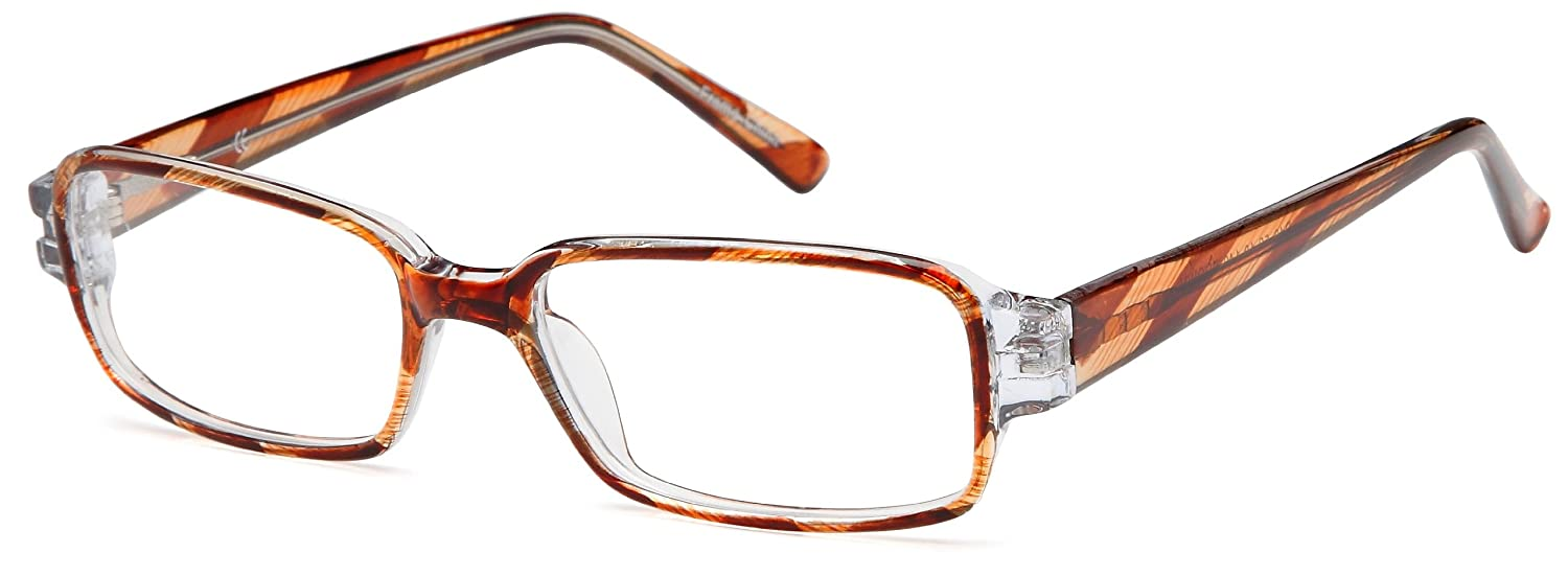 Amazon.com: Womens Square Glasses Frames Brown Prescription ...