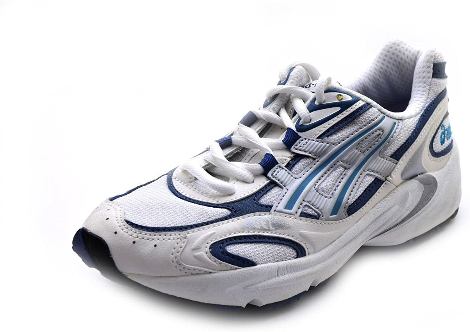 desagüe perjudicar Consultar  Amazon.com | ASICS Women's Running Shoes Gel Foundation IV White Silver  Blue 6 Medium | Running