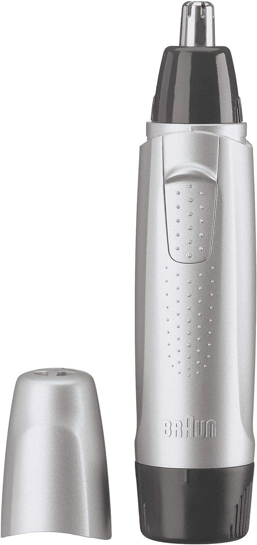 Braun EN10 - Cortapelos nariz y orejas, color plata