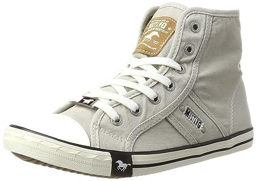 Mustang 1099-502, Zapatillas Altas Para Mujer, Gris (Hellgrau), 41 EU: Amazon.es: Zapatos y complementos