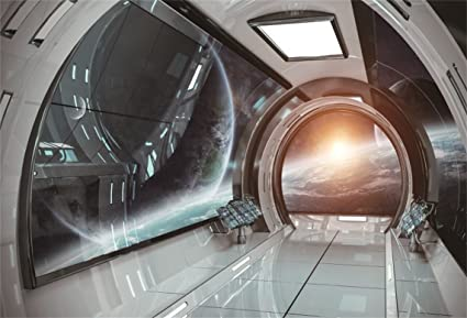 Beau AOFOTO 8x6ft Spaceship Spacecraft Interior Decoration Background Space  Station Cabin Photography Backdrop Kid Boy Girl Artistic