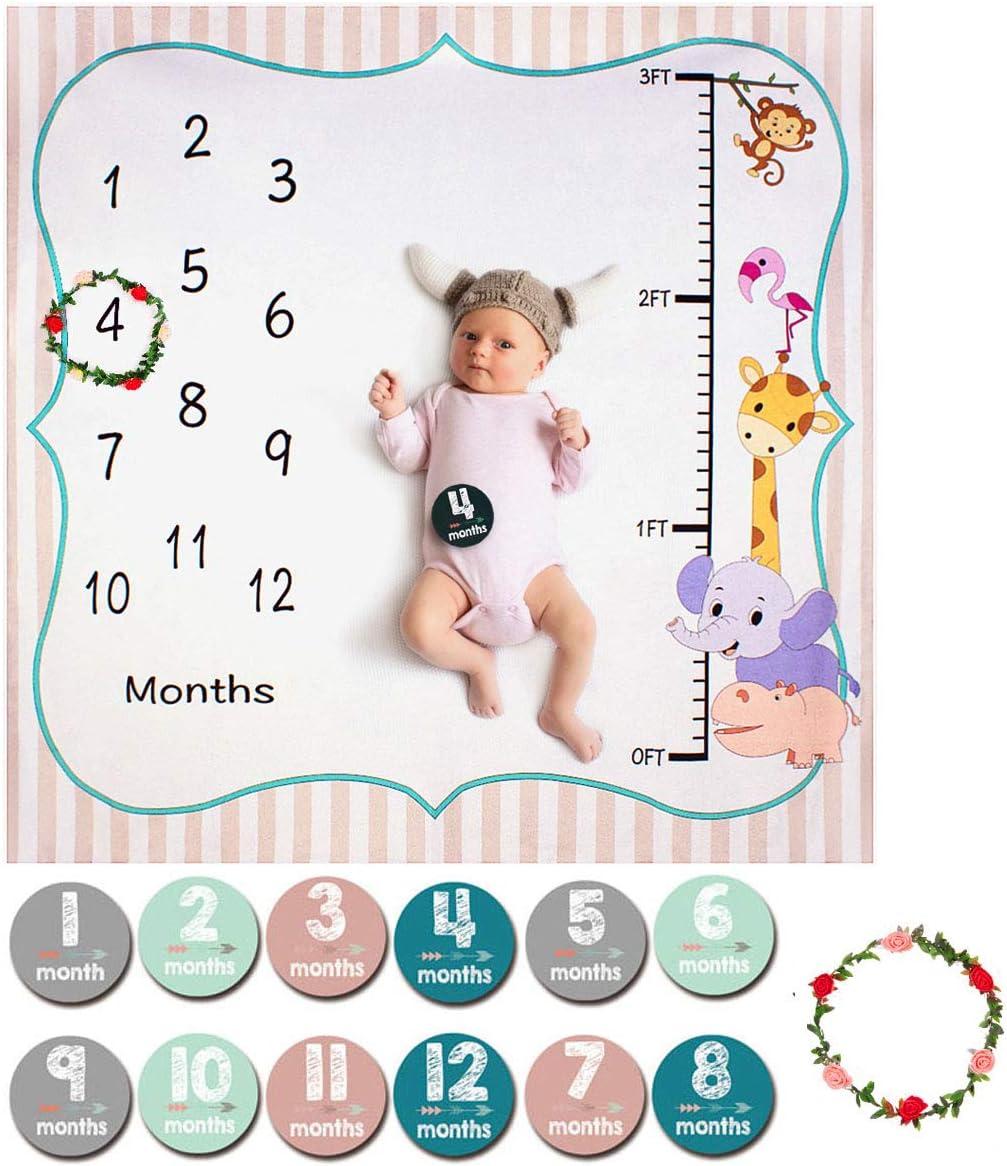 Unicorno Immagine Monthly Milestone Blanket Beb/è Copertina Neonato Flanella Morbido HIFOT Coperta Neonato Milestone Bambino Sfondo Fotografico
