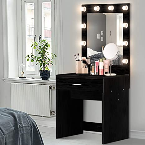 Amazon.com: US Shipping Vanity Set with Lighted Mirror ...