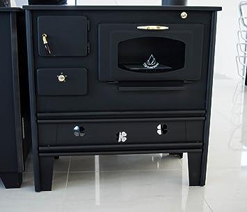 Cocina de leña de Prometey; 7 kW, con horno, superficie de hierro forjado y puerta con cristal, tipo Nar: Amazon.es: Bricolaje y herramientas