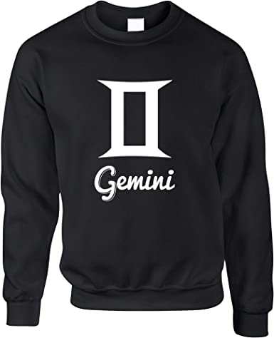 Horoscope Hooded Sweatshirt Gemini Hoodie Birthday Sign Long Sleeve Plus Size Up to 5X