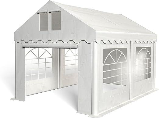 Royal Catering Cenador para Eventos Carpa de Jardin RCPT 3/4W (3x4 m, 12m², Impermeable, Resistente a la radiación UV) Blanco: Amazon.es: Jardín