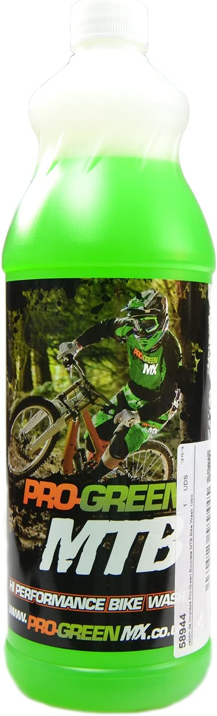 Jabón de limpieza Pro-Green Bicicleta MTB Bike Wash 1litro: Amazon ...
