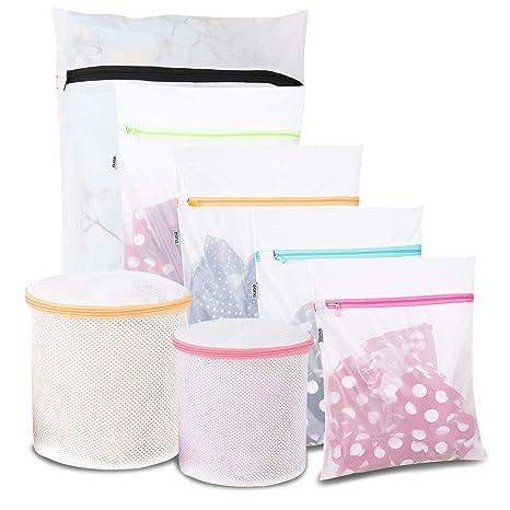 Eono Essentials – Bolsas de colada de malla para prendas íntimas, ropa delicada y lencería,Sujetador (Bolsa de Lavanderia 7 pcak)