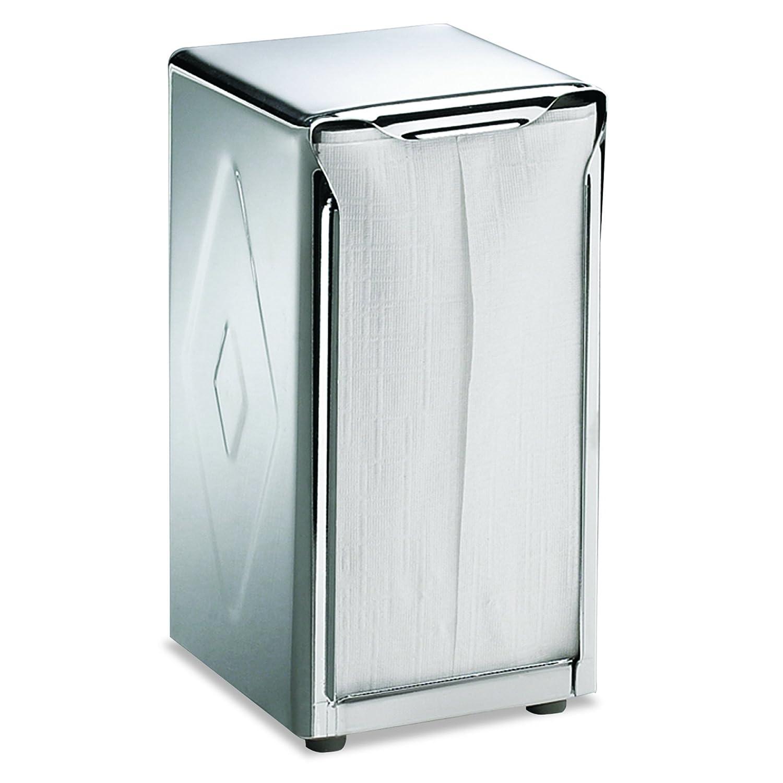 San Jamar H900X Tabletop Napkin Dispenser, Tall Fold, 3 3/4 x 4 x 7 1/2, Capacity: 150, Chrome SJMH900X 173409