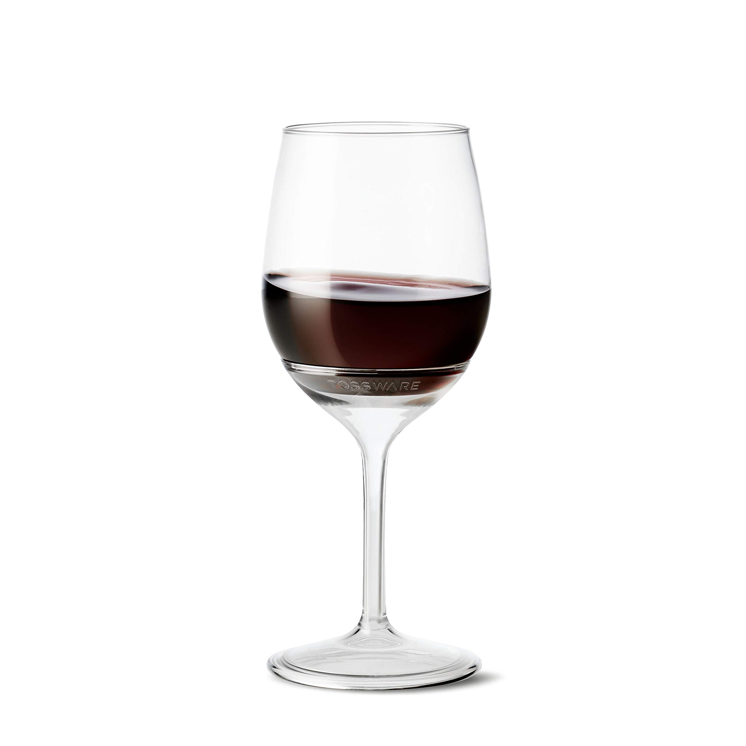 TOSSWARE 14oz Stemmed Vino- recyclable wine plastic cup -SET OF 12- detachable stem, shatterproof, and BPA-free wine glasses by TOSSWARE