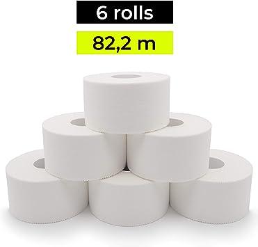 KALAHARI 6 x Tape Deportivo Blanco - 3.8cm x 13.7m - Cinta ...