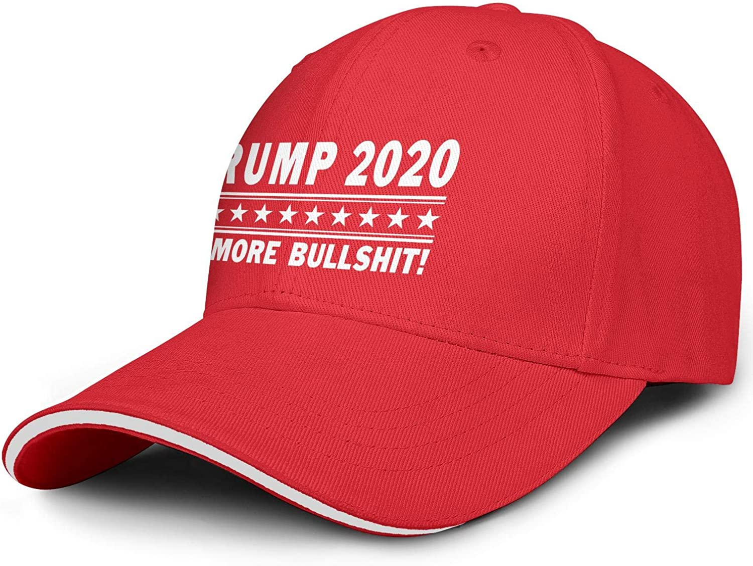 ahtbht Trump 2020 Star White Snapback Hats Hip Hop Athletic Unisex Baseball Cap Designed