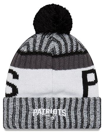 ... Amazon.com New Era Knit New England Patriots Black On Field Sideline Winter  Stocking Beanie ... ce03abdea
