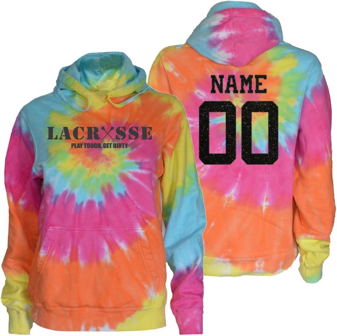 Jant GirlカスタムラクロスTie Dye Sweatshirt – チャコールラクロス再生Toughロゴ  Youth Medium (Size 10-12)
