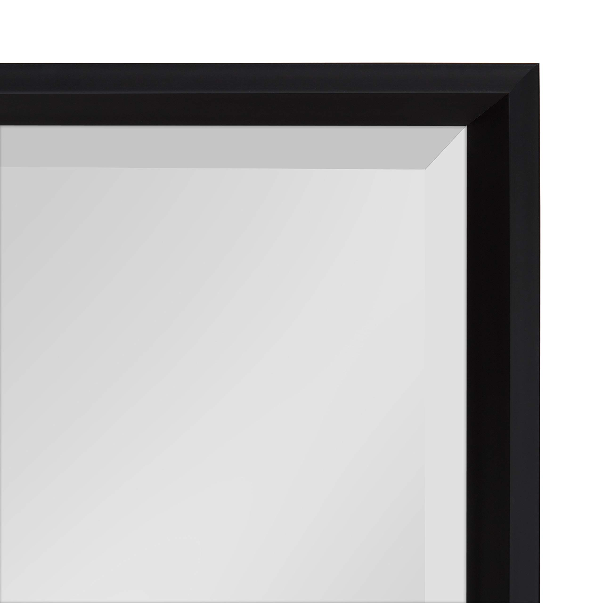 Kate and Laurel Calter Modern Decorative Framed Beveled Wall Mirror, 19.5x25.5 Black by Kate and Laurel (Image #4)