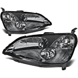 Honda Civic Headlights Lamp Kit (Smoke Lens) - 7th Gen EM ES
