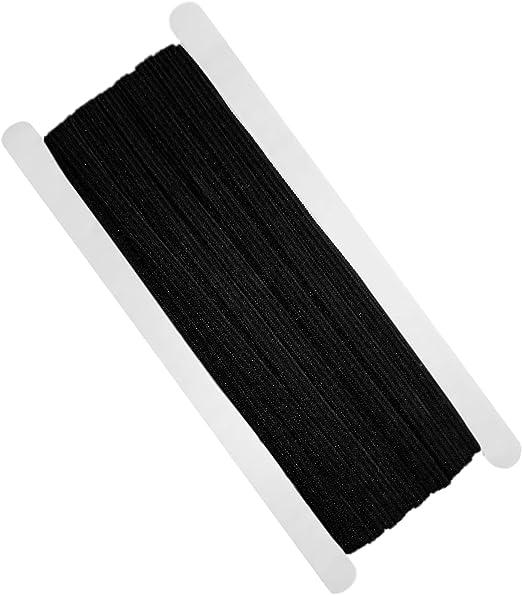 4 mm x 5 m schwarzer elastische kordel Gummiband kochfest zb Gummi für Masken