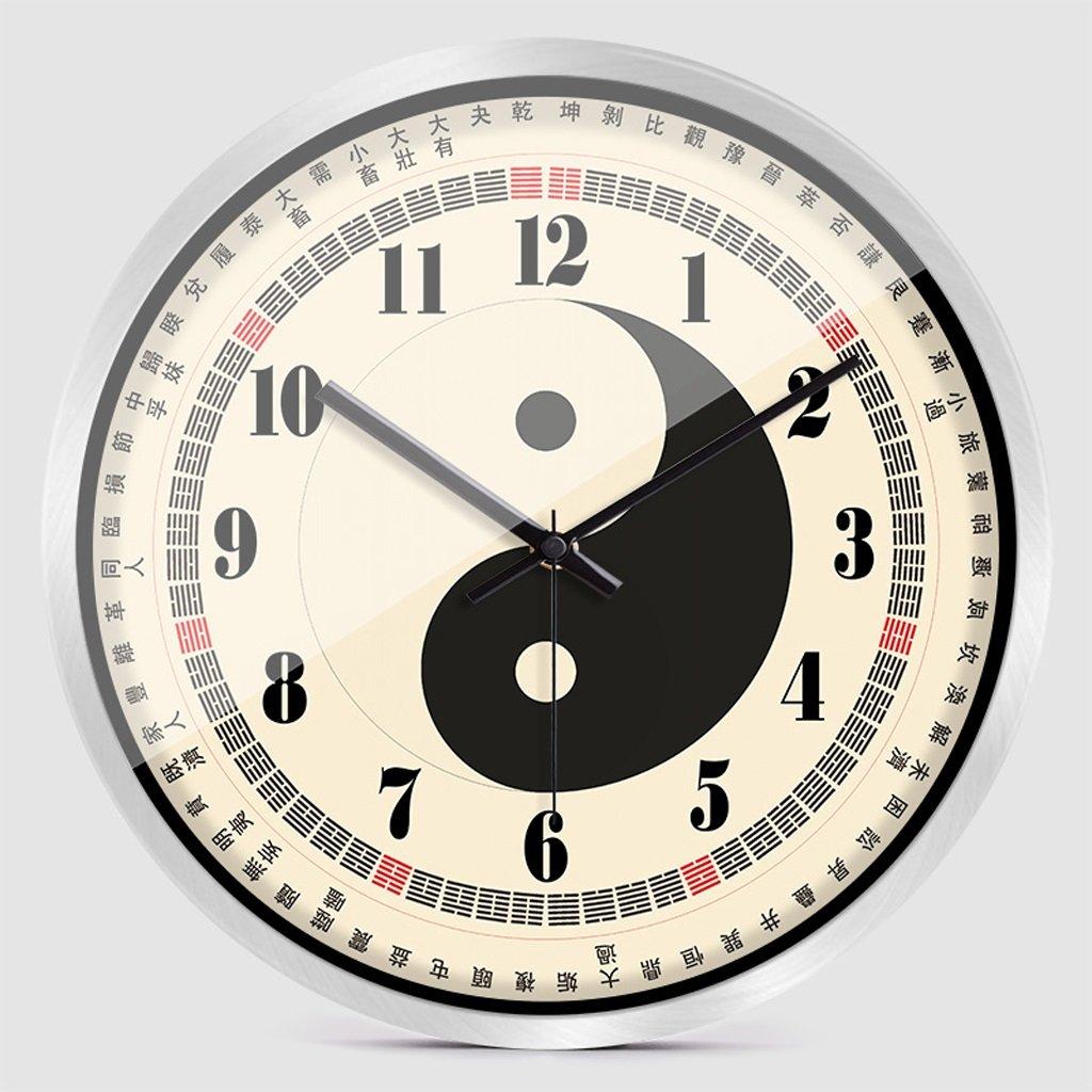 掛け時計 ウォールクロックファッション中国スタイルクリエイティブパーソナリティホーム寝室静かなクォーツ時計 Rollsnownow (色 : シルバー しるば゜, サイズ さいず : 14 inches) B07BMVYJBY 14 inches|シルバー しるば゜ シルバー しるば゜ 14 inches