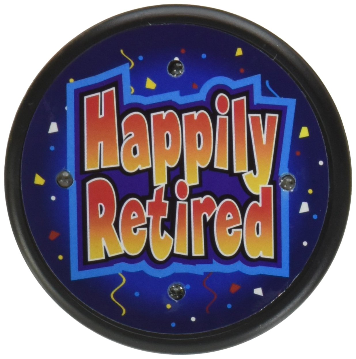 21//2-Inch The Beistle Company Beistle FB63 Happily Retired Flashing Button