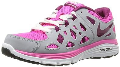 Nike Kids Dual Fusion Run 2 GS Running Shoe Pnk Fl Rspbrry Rd Wlf ... 0a9f85929